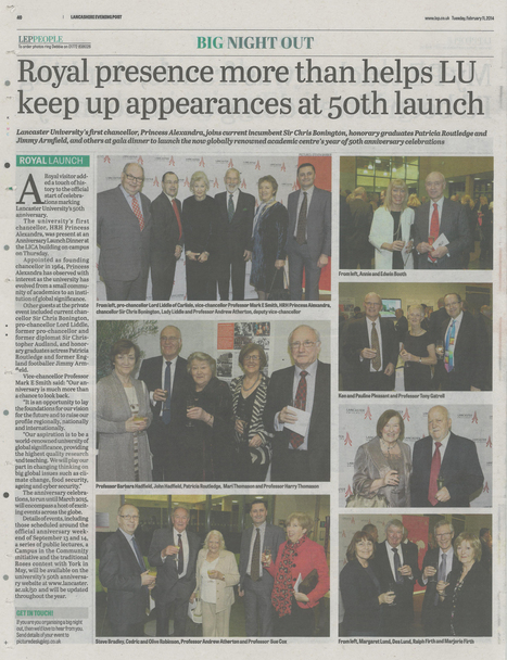 Lancashire Evening Post 18,705 readers | Lancaster University 50th anniversary | Scoop.it