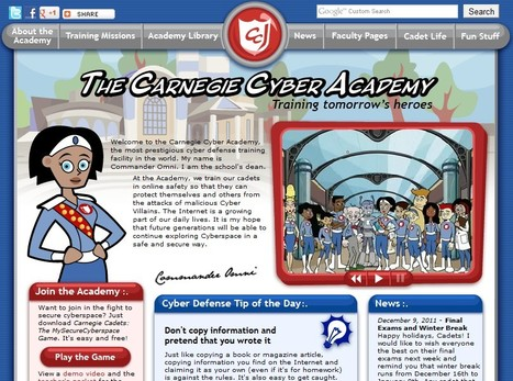 The Carnegie Cyber Academy - An Online Safety site and Games for Kids | 21st Century Tools for Teaching-People and Learners | Scoop.it