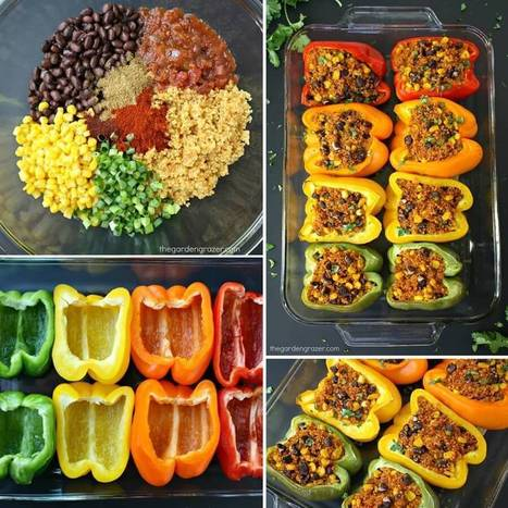 Try These Yummy Mexican Quinoa Stuffed Peppers   Stylish Board   Scoop.it