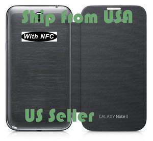 Grey Flip Leather Case Cover For Sumsung Galaxy Note 2 N7100 I713 T889 With NFC | Hot deals on dadawireless | Scoop.it