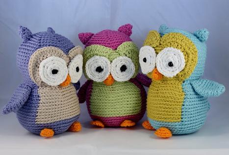 3 hæklede ugler - Grydelappen.dk | Crochet | Scoop.it