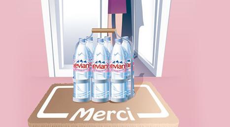 Un service de livraison à domicile pour Evian | Comestible.fr | Actualité de l'Industrie Agroalimentaire | agro-media.fr | Scoop.it