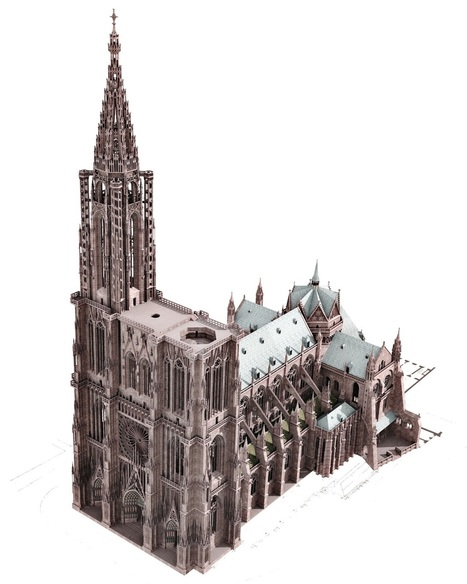 "La télévision de demain: Gothic cathedral in Strasbourg - star of the transmedia project ""The Builders' challenge"" 