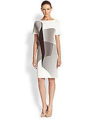 Carolina Herrera - Cady Spiral-Print Dress - Saks Fifth Avenue Mobile | fashion pants | Scoop.it