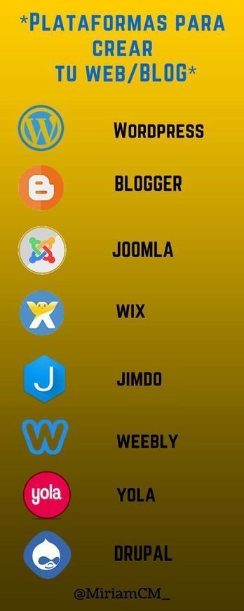 Las mejores plataformas para crear tu página web o blog | Miriam Mendoza | COMUNICACIONES DIGITALES | Scoop.it