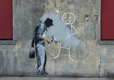 Gray Ghost: Banksy's Arch-Nemesis or Anti-Street Artist? | WebUrbanist | Street Protest Art | Scoop.it