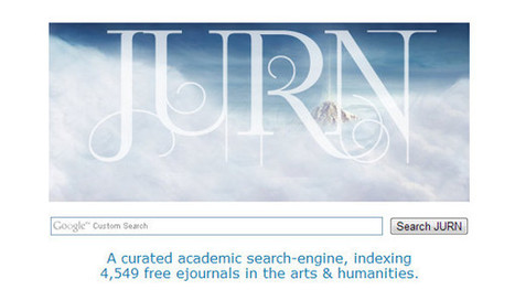 Using JURN to find open access journals in arts and humanities | Digital tools for researchers | Scoop.it