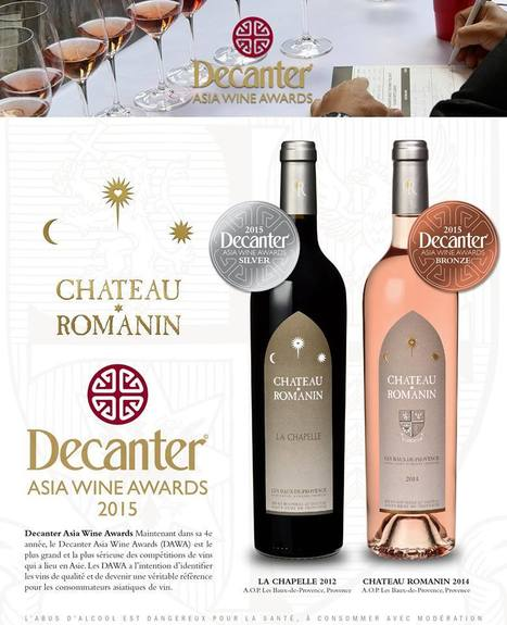 Château Romanin doublement récompensé aux D.A.W.A                      (Decanter Asia Wine Awards)   Saint Rémy de Provence Tourisme   Scoop.it