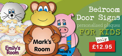 Personalised Door Name Plates For Kids | Buy at Jake and Jill | Personalised Gifts For Kids | Scoop.it