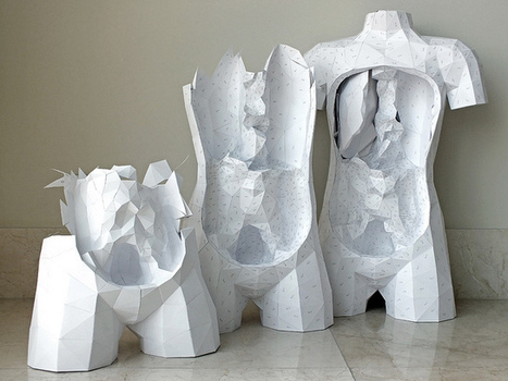 The Geometric Paper Torso, Now with DIY Templates and Tutorials   Colossal   Art et Corps interne   Scoop.it