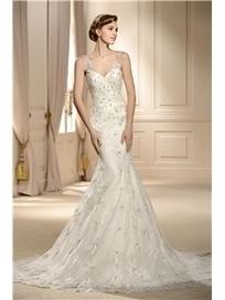 $ 160.99 Amazing V-Neck Trumpet/Mermaid Sleeveless Applique Paillette Chapel Vintage Wedding Dress | Fashion | Scoop.it