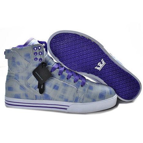 Grey and Purple Tie Dye Supra Shoes Skytop Mens | want and share | Scoop.it