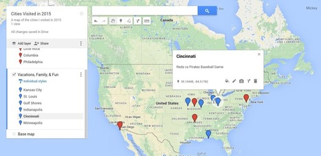 Class Tech Integrate : My Maps in Google Drive: Create Interactive Maps | Using Google Drive in the classroom | Scoop.it