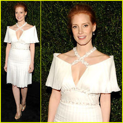 Jessica Chastain – Chanel Pre-Oscars Dinner 2013 ... - Just Jared | TAFT: Trends And Fashion Timeline | Scoop.it