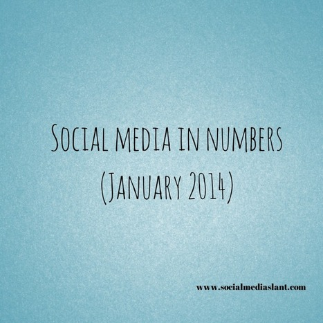 Social media in numbers (January 2014) | FeelGoodTime.net - Your Daily Medicine | Scoop.it