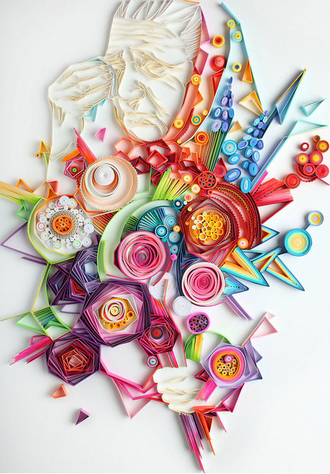 More Colorful Illustrations Out Of Colored Paper | Communication design | Scoop.it