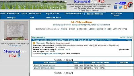 25ème relevé Maisonnais sur MemorialGenWeb (MGW) | CGMA Généalogie | Scoop.it
