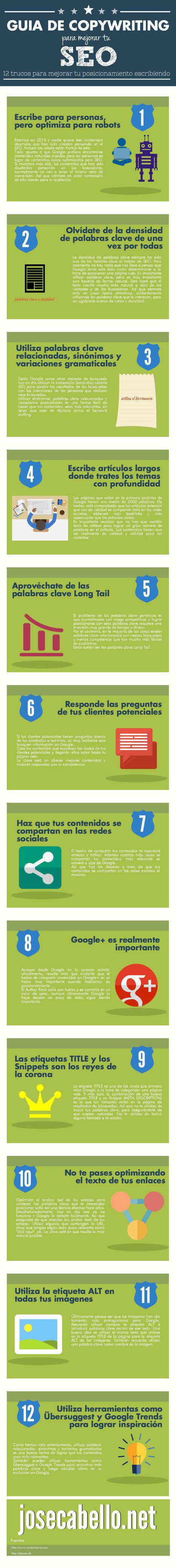 Guía de Copywriting para mejorar tu SEO (Infografía) | Comunicación, Brand Journalism y RRPP | Scoop.it