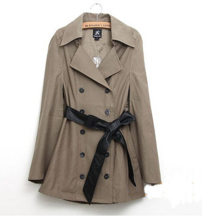 Double Breasted Warm Ladies Windbreaker Jacket With Black Belt -US$ 30.99 | women fashion accessories | Scoop.it