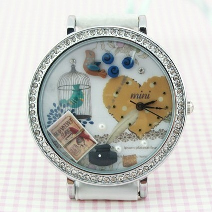 Natural Birdcage and Bird Theme Polymer Clay Novelty Watch | latest women fashion watches | Scoop.it