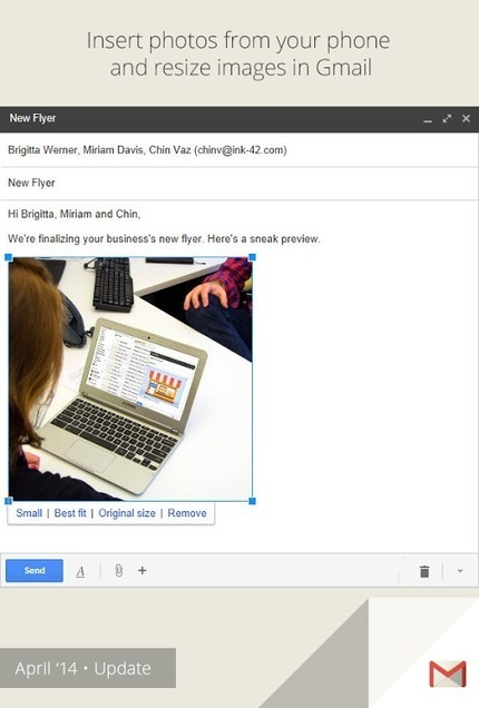 You can now save time and insert your Auto Backup photos into a +Gmailmessage on the web using the ... [Enterprise on G+]   Google Product News   Scoop.it