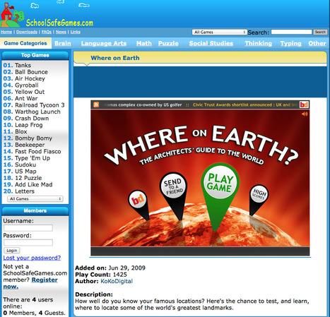 SchoolSafeGames.com - Where on Earth   ΕΚΠΑΙΔΕΥΤΙΚΑ ΠΑΙΧΝΙΔΙΑ - ΕΦΑΡΜΟΓΕΣ   Scoop.it