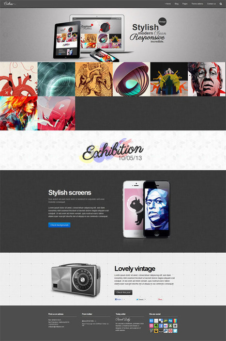 Cubus, WordPress Fullwidth Portfolio Theme | WP Download | Cubus | Scoop.it