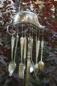 Silverware wind chimes can be beautiful   Upcycled Garden Style   Scoop.it