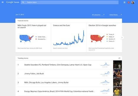Google's redesigned Trends page now ranks popular searches in real-time | Library Watch 全球觀測即時新聞 | Scoop.it