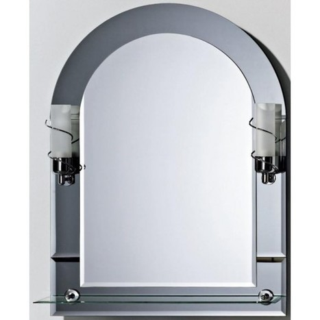 Illuminated Mirror with Shelf 80cm x 60 cm - Bargains Zone | Illuminated mirrors | Scoop.it