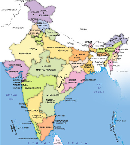India Map, Map of India | The White Tiger; Caste System | Scoop.it