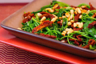 Sautéd Broccoli Rabe with Sun-Dried Tomatoes and Pine Nuts   Healthy Whole Foods   Scoop.it