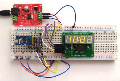 Making a simple ESP8266-based clock synchronized to NIST server - Embedded Lab | Arduino, Netduino, Rasperry Pi! | Scoop.it