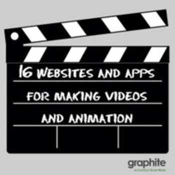 16 Websites and Apps for Making Videos and Animation | Educatief Internet - Gespot op 't Web | Scoop.it