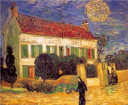 White House at Night 1890 by Van Gogh   Van gogh Replica Paintings for Sale   Scoop.it