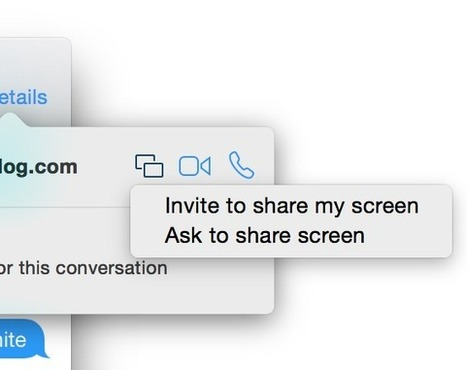 Yosemite includes the ability to initiate screen sharing via the Messages app | All Things Mac | Scoop.it