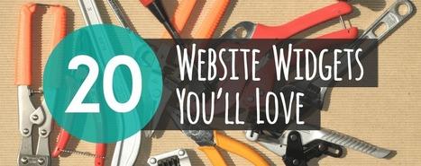20 Widgets to Improve Your Website - Jimdo Blog | stepjumpr | Scoop.it