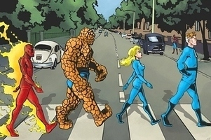 Community Post: 14 Classic Album Covers Reinterpreted With Superheroes   Album covers   Scoop.it