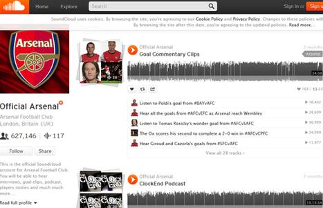 SoundCloud, nouvel outil pour les clubs pros? - Digital Sport | Innovation and digital soccer | Scoop.it