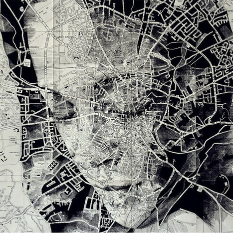 12 Incredible Portraits Drawn on Maps | Picture This. | Scoop.it