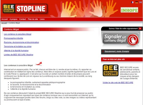 "BEE SECURE STOPLINE | Signaler du ""Contenu illégal"" 