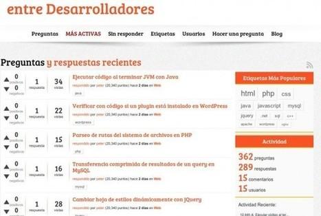 Nueva Web de Preguntas y Respuestas de Programación, en Español | chechi isern | Scoop.it
