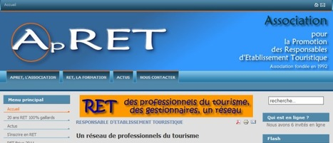 L'APRET, un réseau de Responsables d'Etablissement Touristique | Emplois Responsables d'Etablissement Touristique | Scoop.it