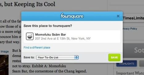 'Save to foursquare' Button for Publishers | Mobile - Mobile Marketing | Scoop.it