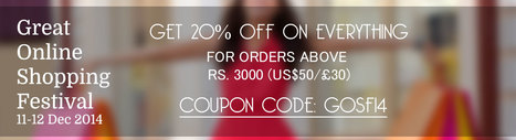 GOSF 2014 Deals at gravity-fashion.com | Use Coupon Code: GOSF14 | Anarkali Suit | Scoop.it