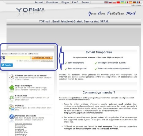 Lutter contre le Spam : créer une adresse mail jetable. | Patrick ROYER - NETEC | Scoop.it