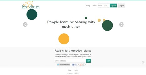 Knodium : Creating Learning Networks... | Time to Learn | Scoop.it