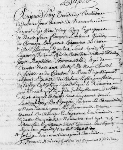 Abjuration à Issoudun en 1725 | Rhit Genealogie | Scoop.it