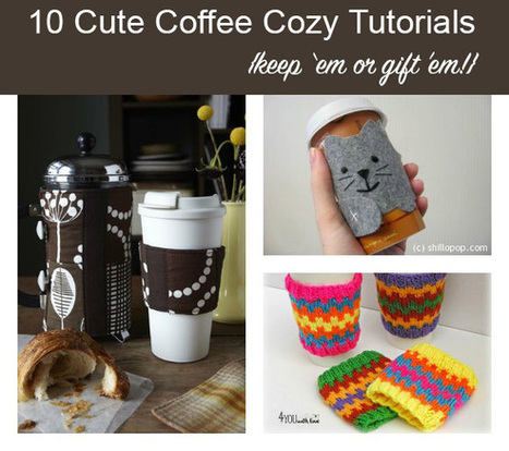 10 DIY Coffee Cozies for You or for Gifts   Fiber Arts   Scoop.it