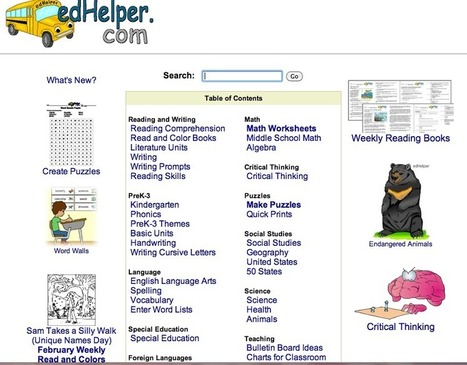 edHelper.com - Math, Reading Comprehension, Themes, Lesson Plans, and Printable Worksheets | Assessment Resources | Scoop.it